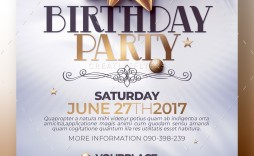 006 Unusual Birthday Flyer Template Psd Free Download Photo