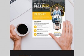 006 Unusual Busines Flyer Template Free Download High Def  Photoshop Training Design