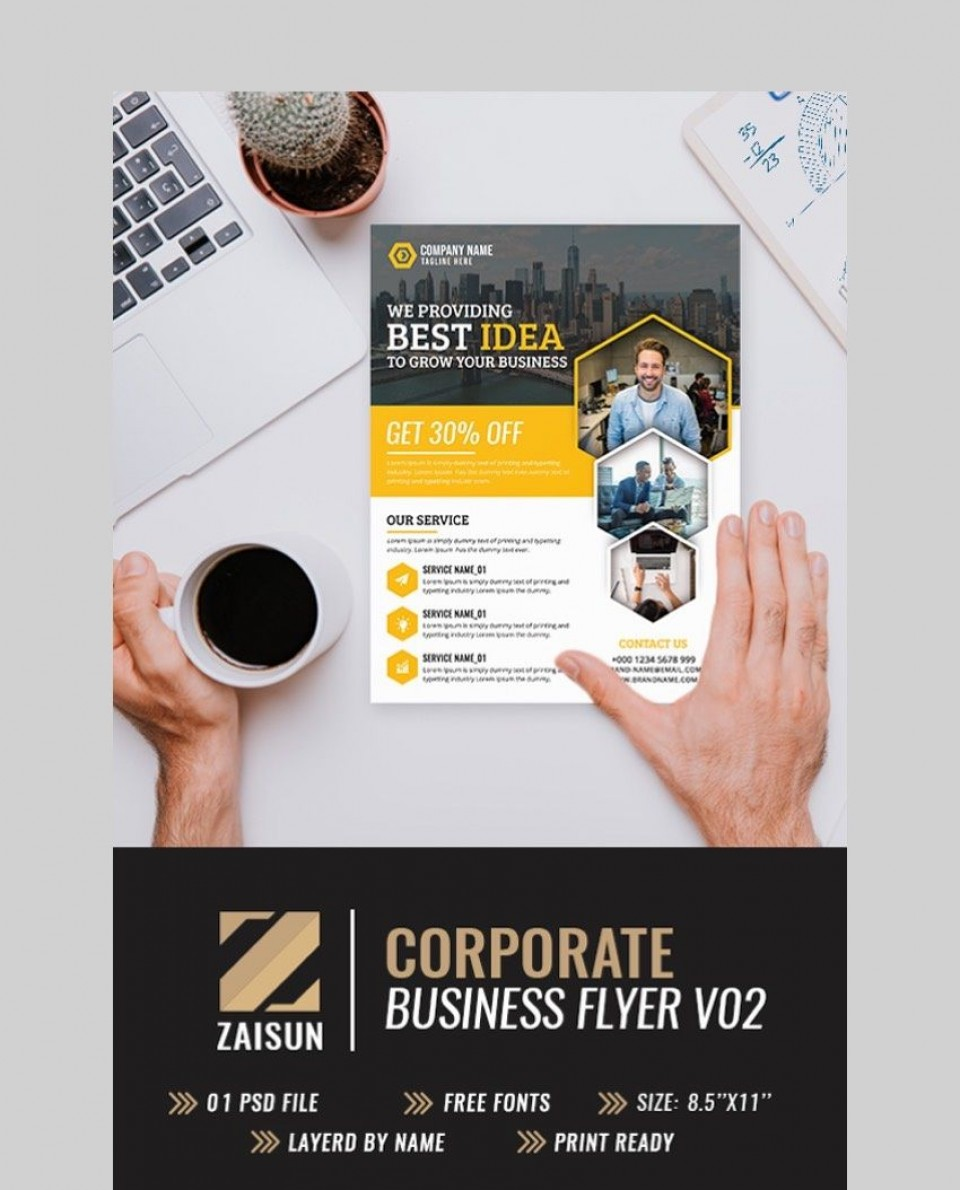 006 Unusual Busines Flyer Template Free Download High Def  Photoshop Training Design960