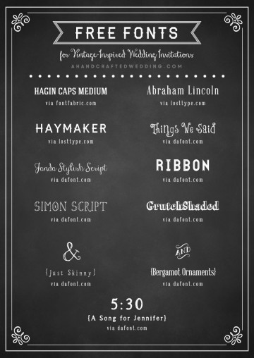 006 Unusual Chalkboard Invitation Template Free Sample  Download Birthday360