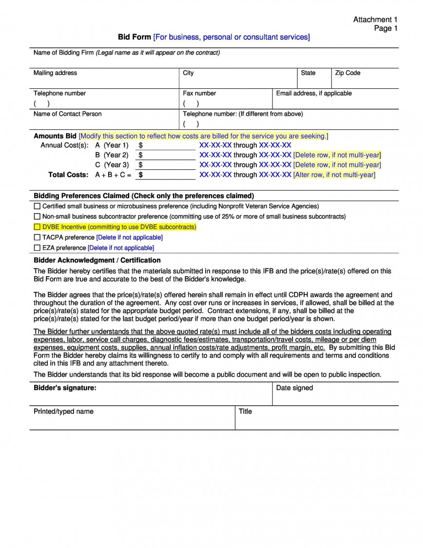 006 Unusual Contractor Bid Sheet Template Highest Clarity  Electrical Free Excel