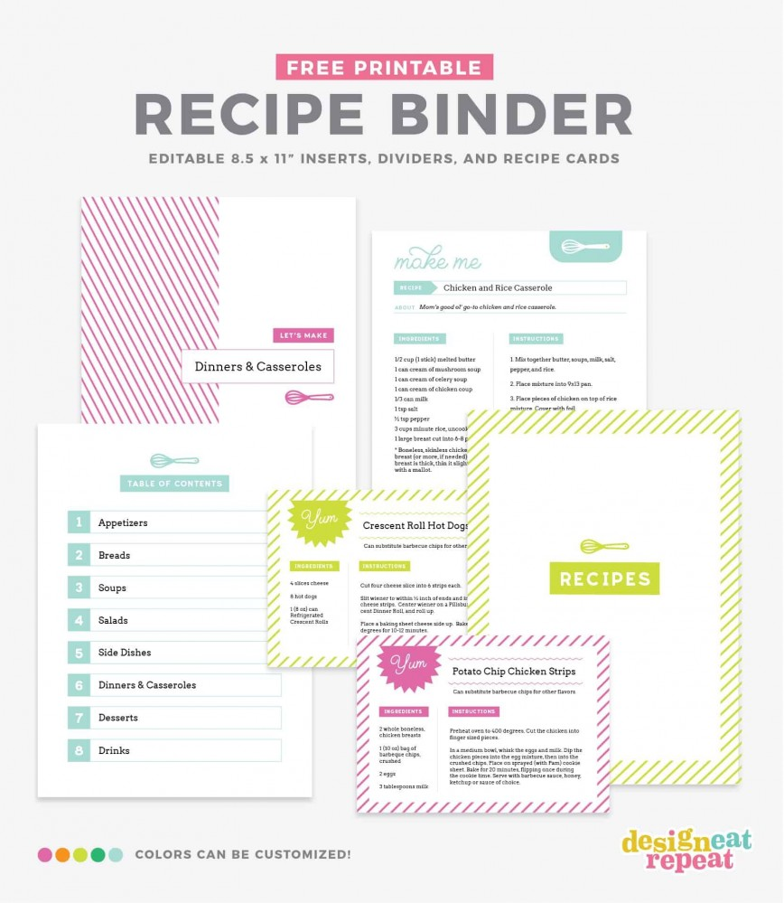 006 Unusual Create Your Own Cookbook Template Concept  Free868