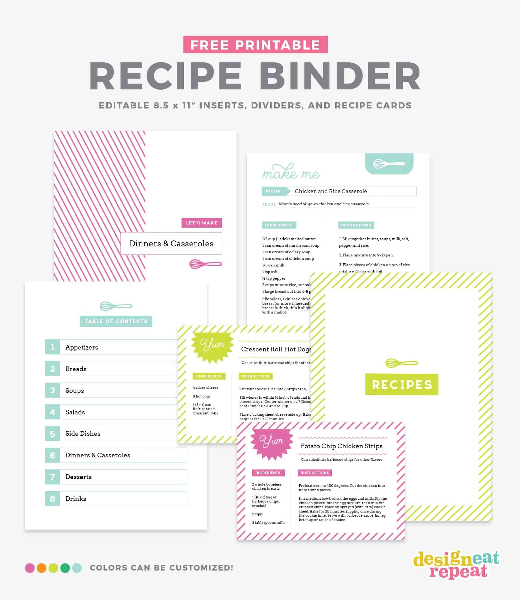 006 Unusual Create Your Own Cookbook Template Concept  FreeFull