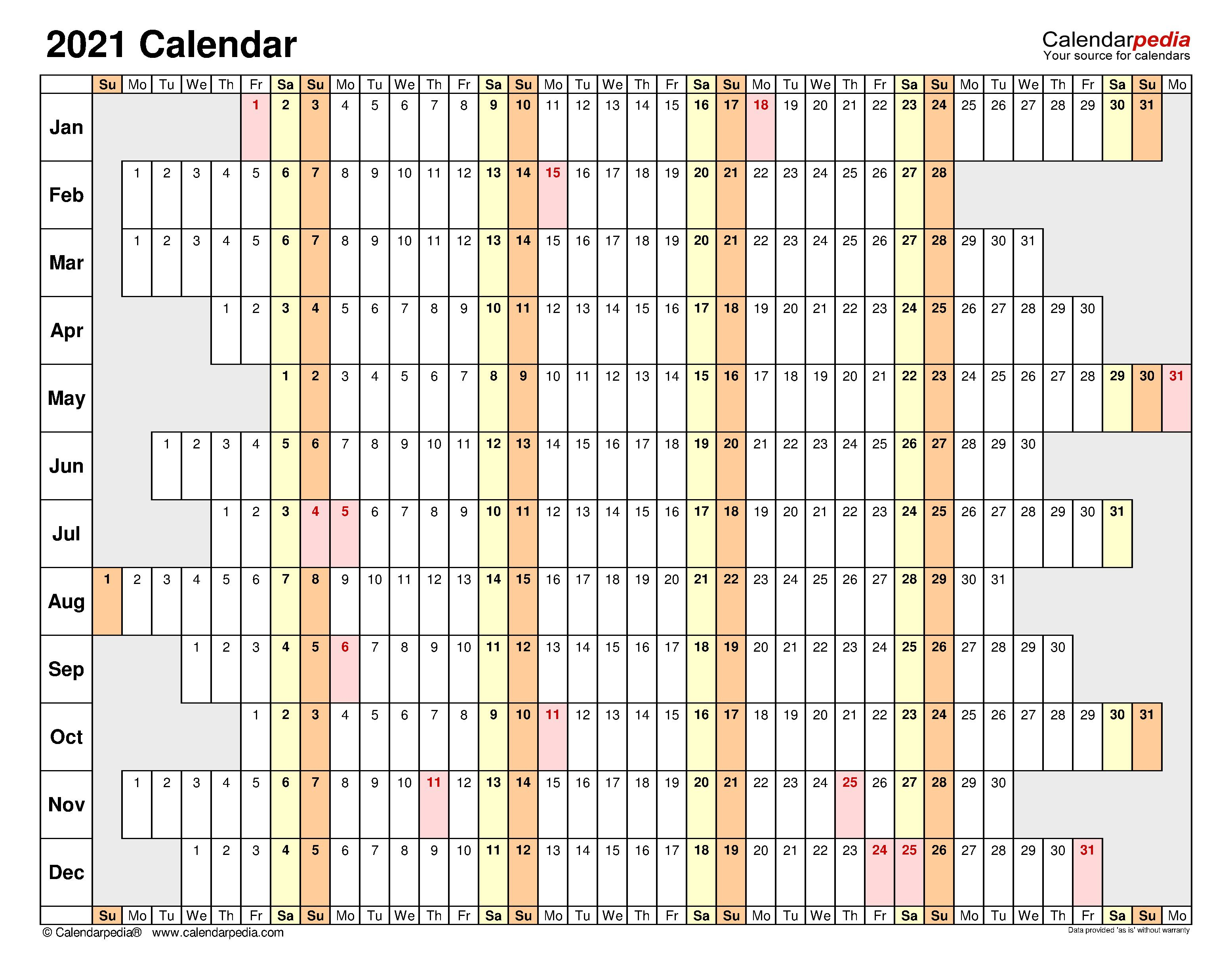 006 Unusual Excel Calendar 2021 Template Highest Clarity  Yearly MicrosoftFull