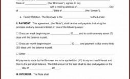 006 Unusual Family Loan Agreement Template High Definition  Free Uk Australia