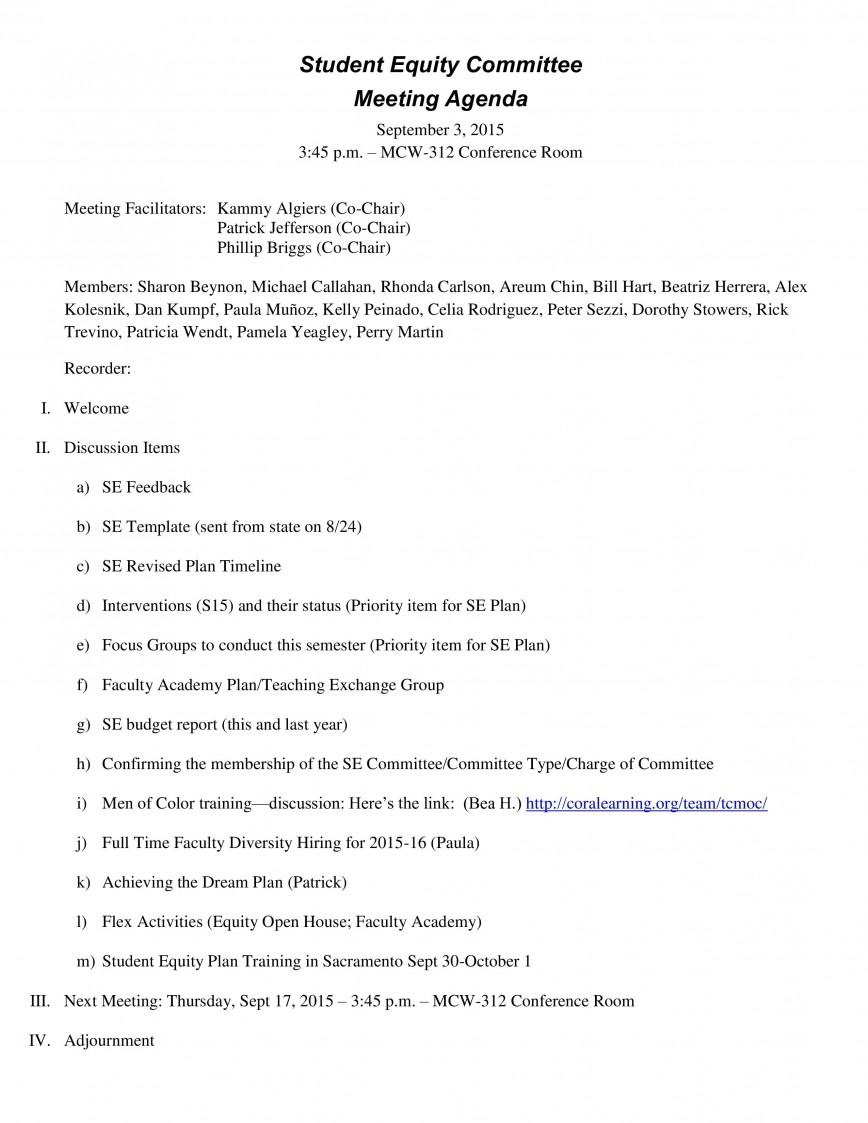 006 Unusual Formal Meeting Agenda Template Example  Pdf Ppt