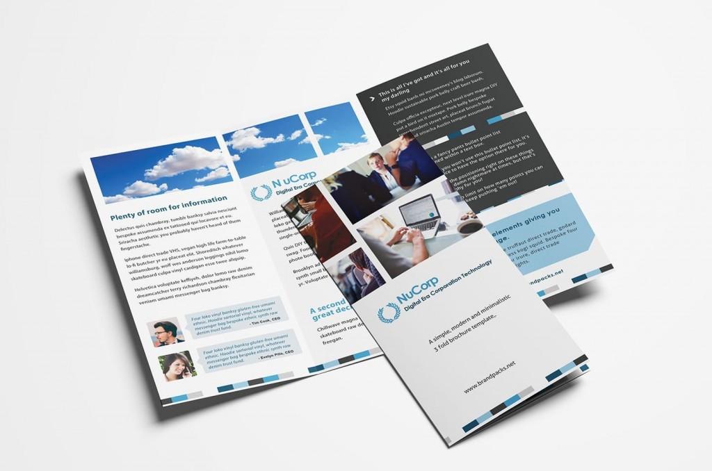 006 Unusual Free Brochure Template Photoshop Download Design  Tri FoldLarge
