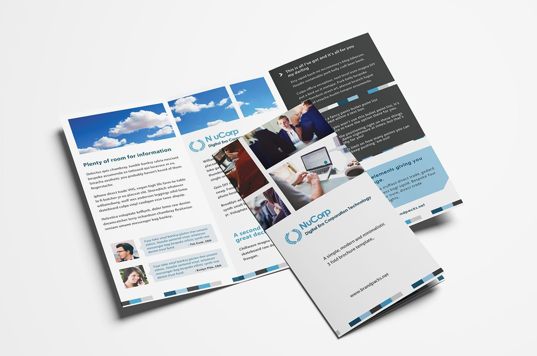 006 Unusual Free Brochure Template Photoshop Download Design  Tri FoldFull