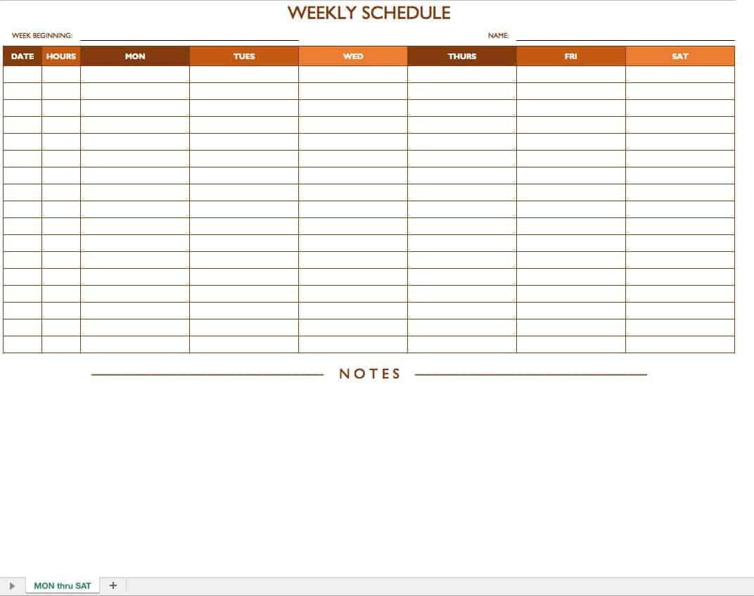 006 Unusual Free Employee Work Schedule Template Sample  Templates Monthly Excel Weekly PdfFull