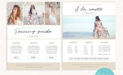 006 Unusual Free Photography Package Template Sample  Pricing