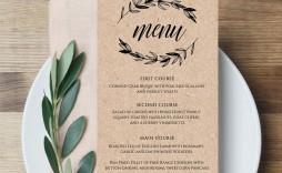 006 Unusual Free Printable Wedding Menu Card Template Design  Templates