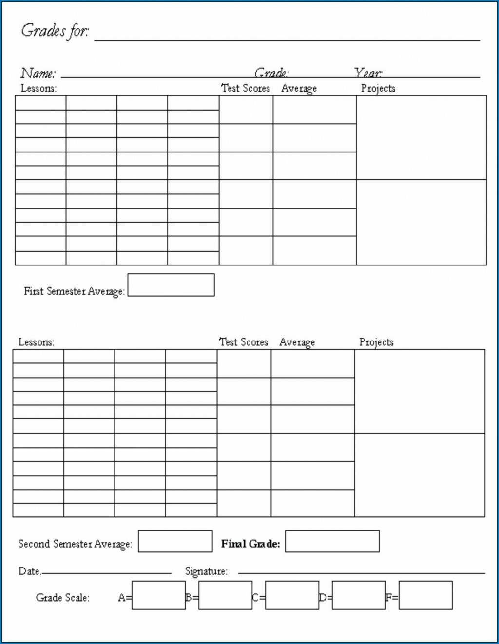 006 Unusual Homeschool Middle School Report Card Template High Definition  8th Grade TranscriptLarge