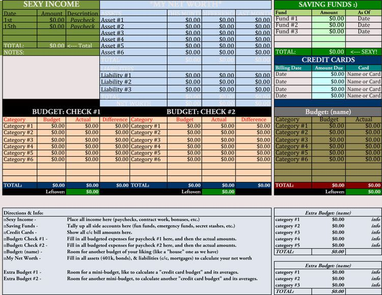 006 Unusual Monthly Budget Example Excel Concept  Template Uk Spreadsheet FreeFull