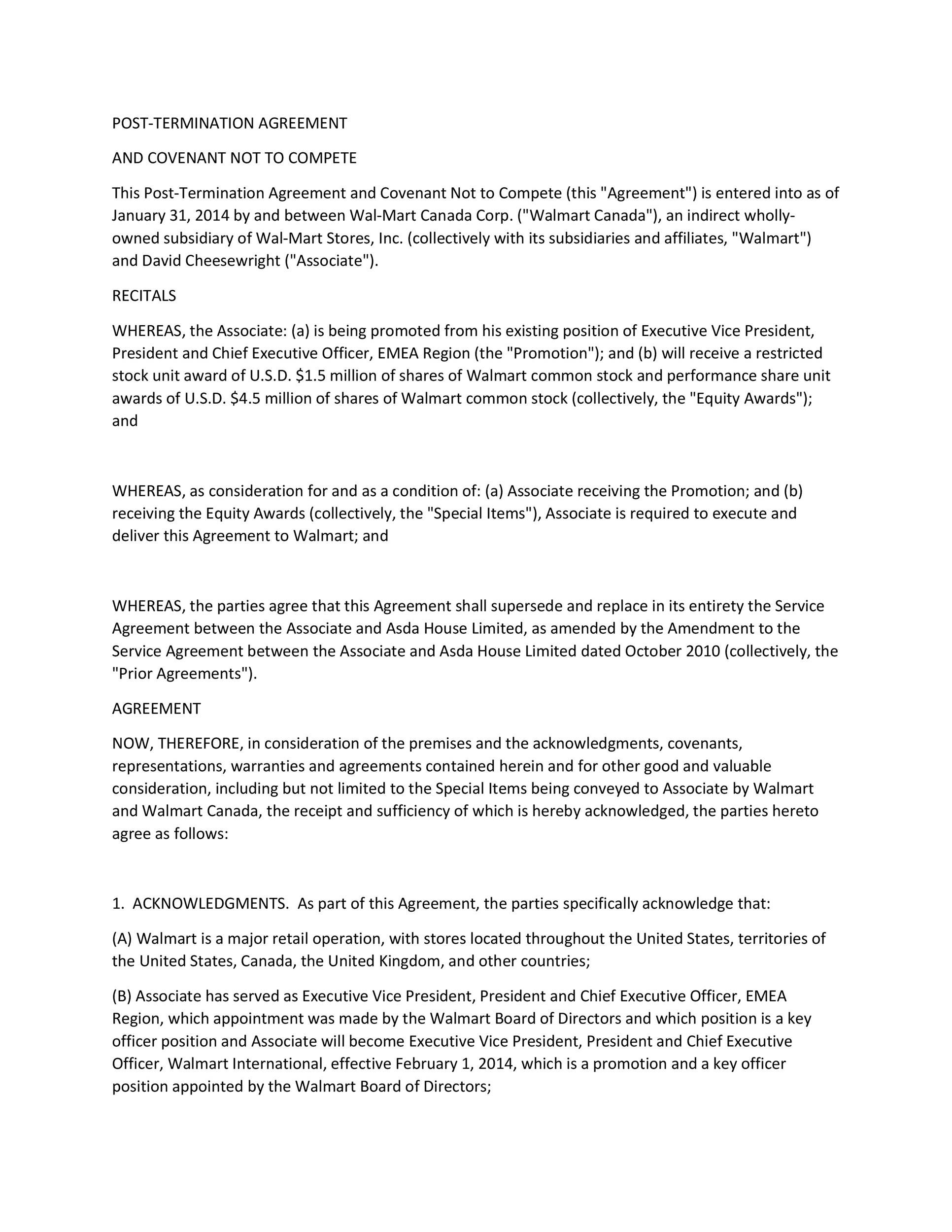 006 Unusual Non Compete Agreement Template Uk Picture Full