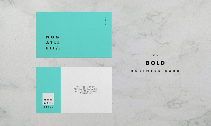 006 Unusual Simple Busines Card Template Psd High Resolution  Design In Photoshop Minimalist Free728
