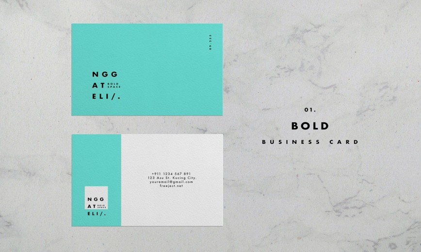 006 Unusual Simple Busines Card Template Psd High Resolution  Design In Photoshop Minimalist Free868