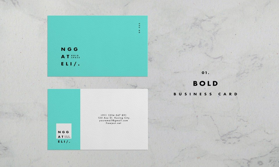 006 Unusual Simple Busines Card Template Psd High Resolution  Design In Photoshop Minimalist Free960