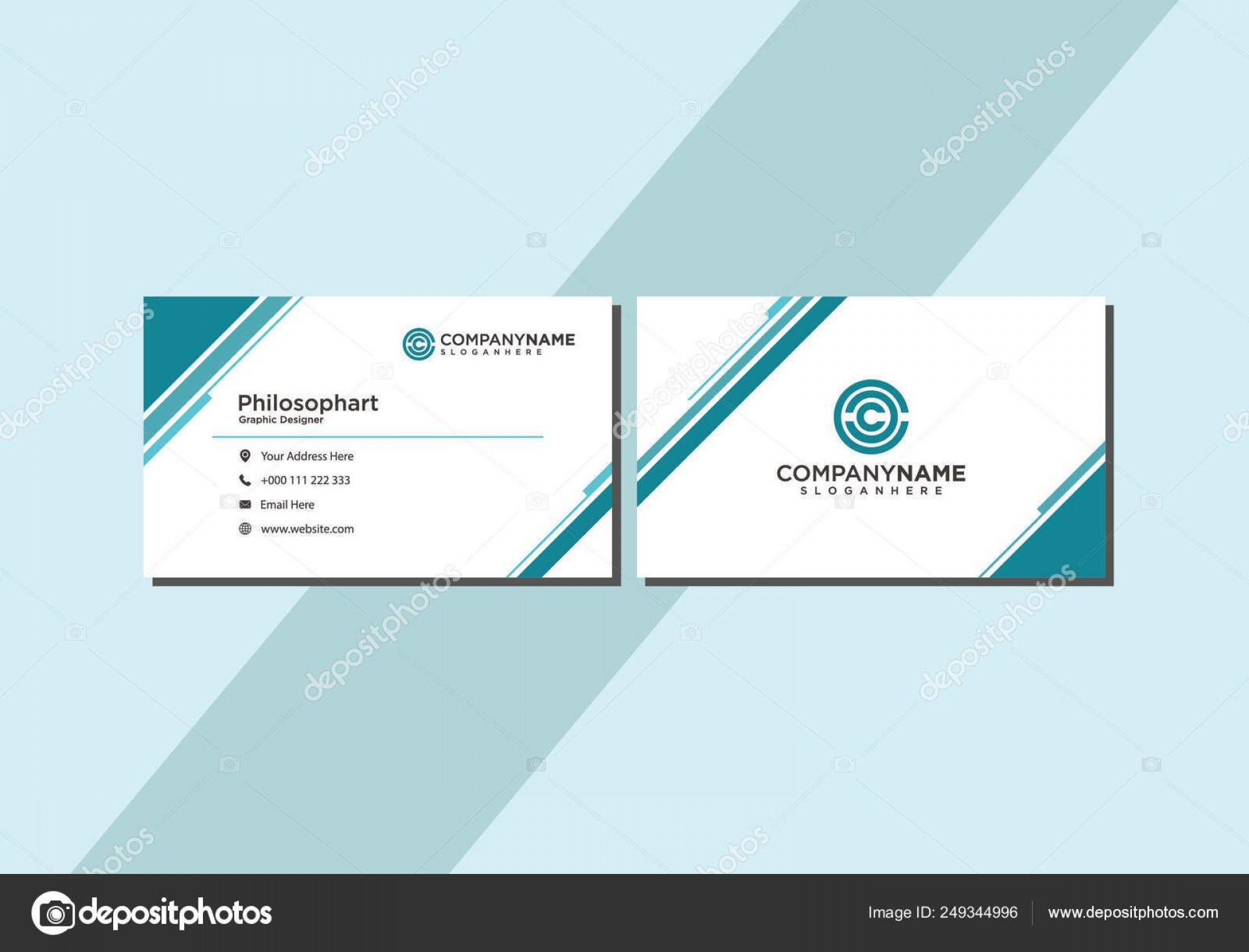 006 Unusual Simple Visiting Card Template Sample  Templates Busines Psd Design File Free Download1920