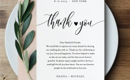 006 Unusual Thank You Note Template Wedding Idea  Card Etsy Wording