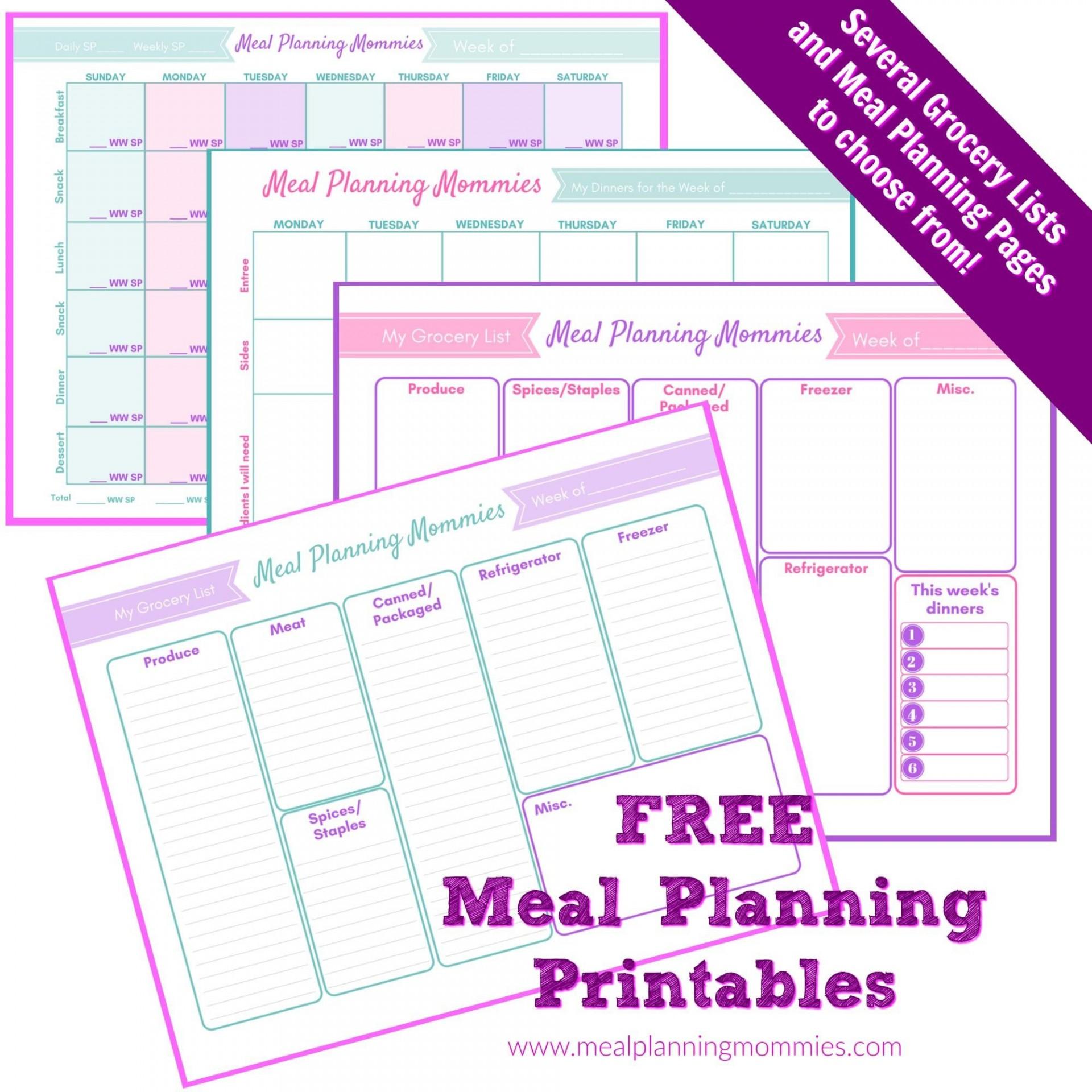 006 Unusual Weekly Meal Planning Worksheet Pdf High Definition  Free1920