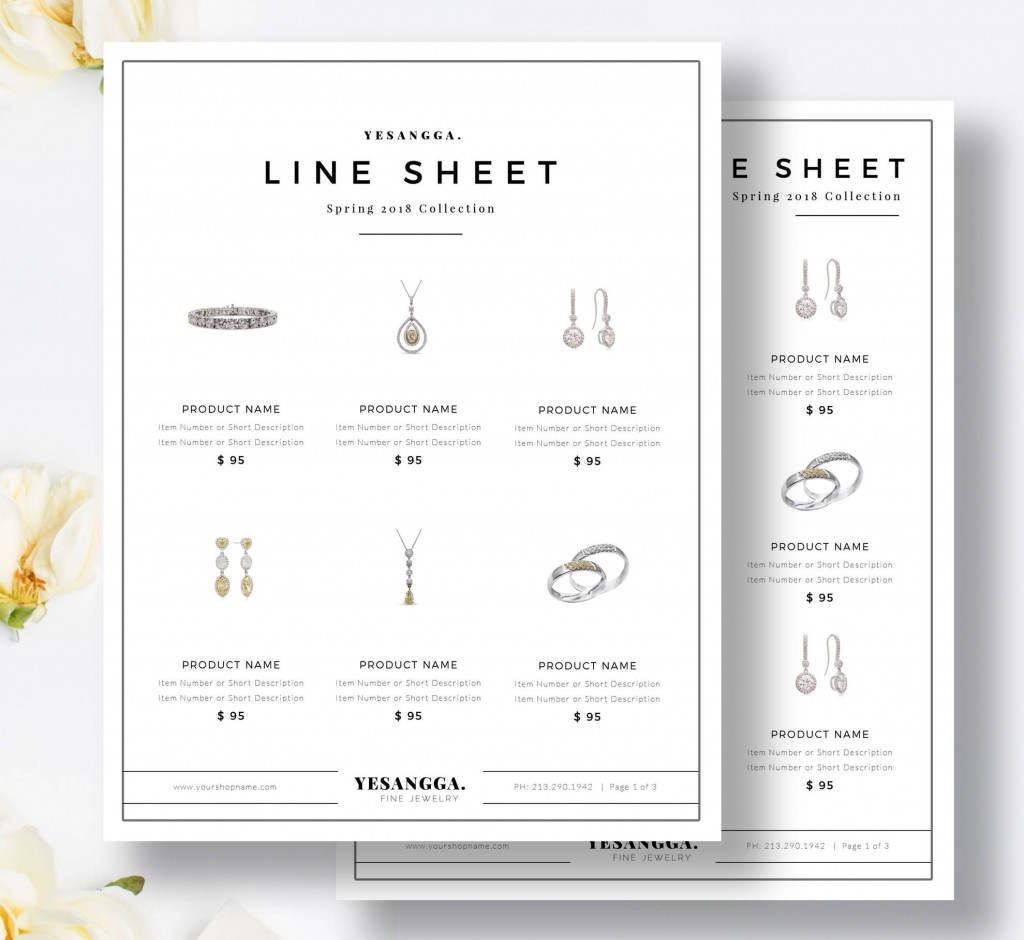 006 Unusual Wholesale Line Sheet Template Sample  Fashion Free ExcelLarge