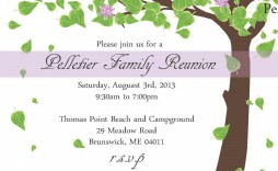 006 Wonderful Family Reunion Flyer Template Publisher Concept