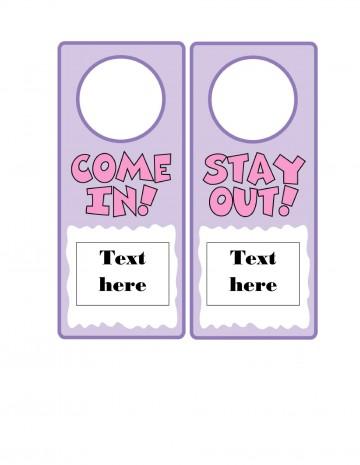 006 Wonderful Free Download Door Hanger Template Idea 360