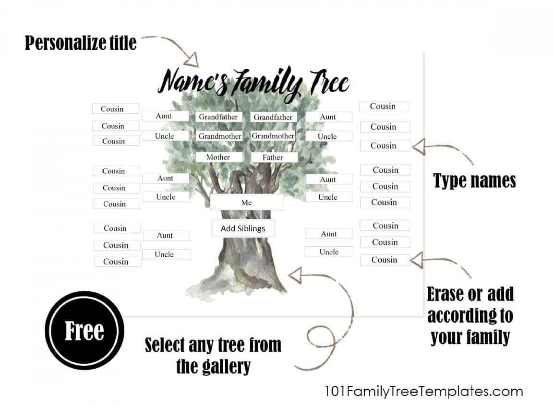 006 Wonderful Free Editable Family Tree Template With Sibling High Def  Siblings1920
