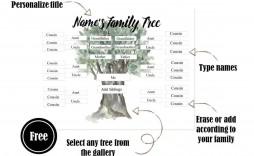 006 Wonderful Free Editable Family Tree Template With Sibling High Def  Siblings