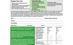 006 Wonderful Hvac Service Agreement Template Concept  Contract Form Maintenance Pdf