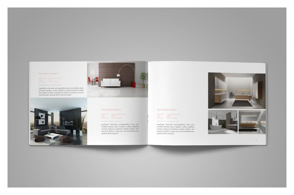 006 Wonderful Interior Design Portfolio Template Inspiration  Ppt Free Download LayoutLarge