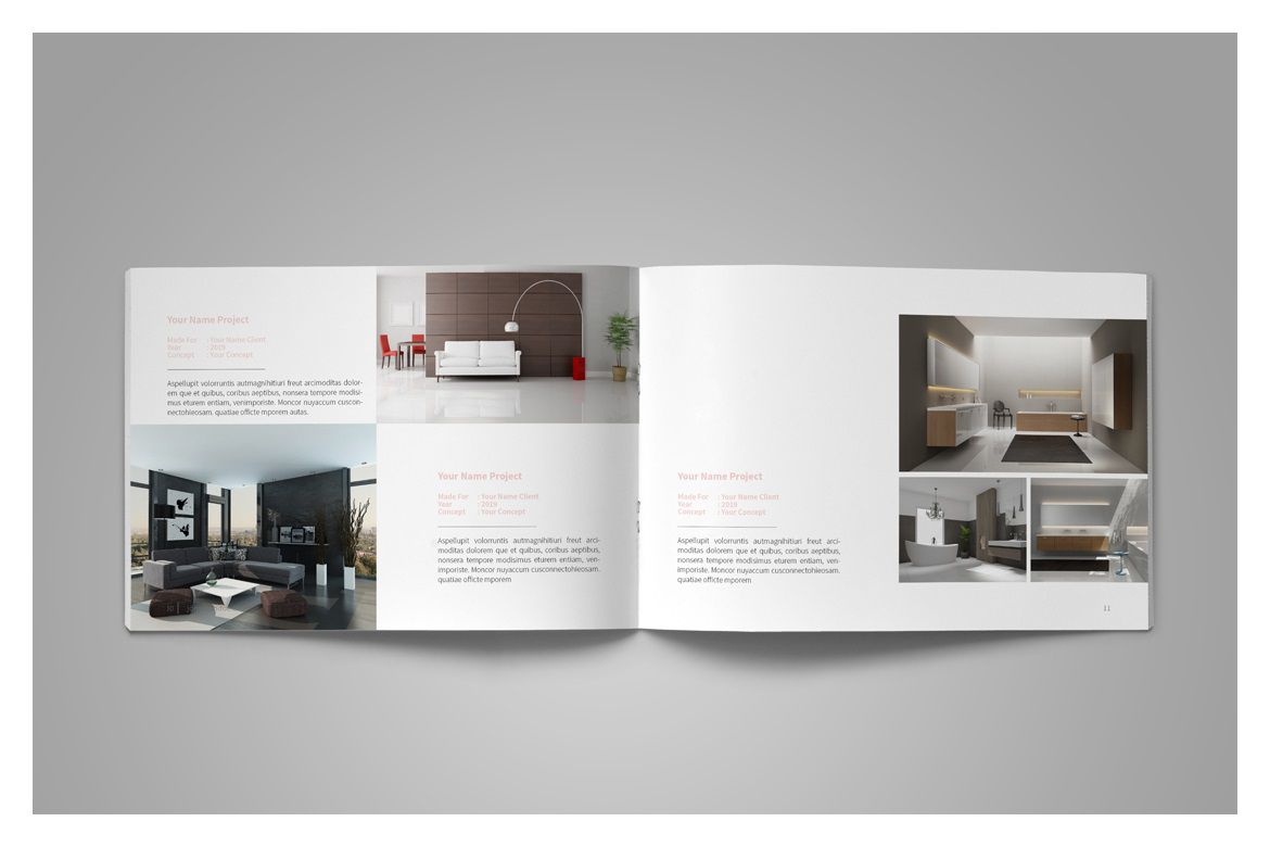 006 Wonderful Interior Design Portfolio Template Inspiration  Ppt Free Download LayoutFull