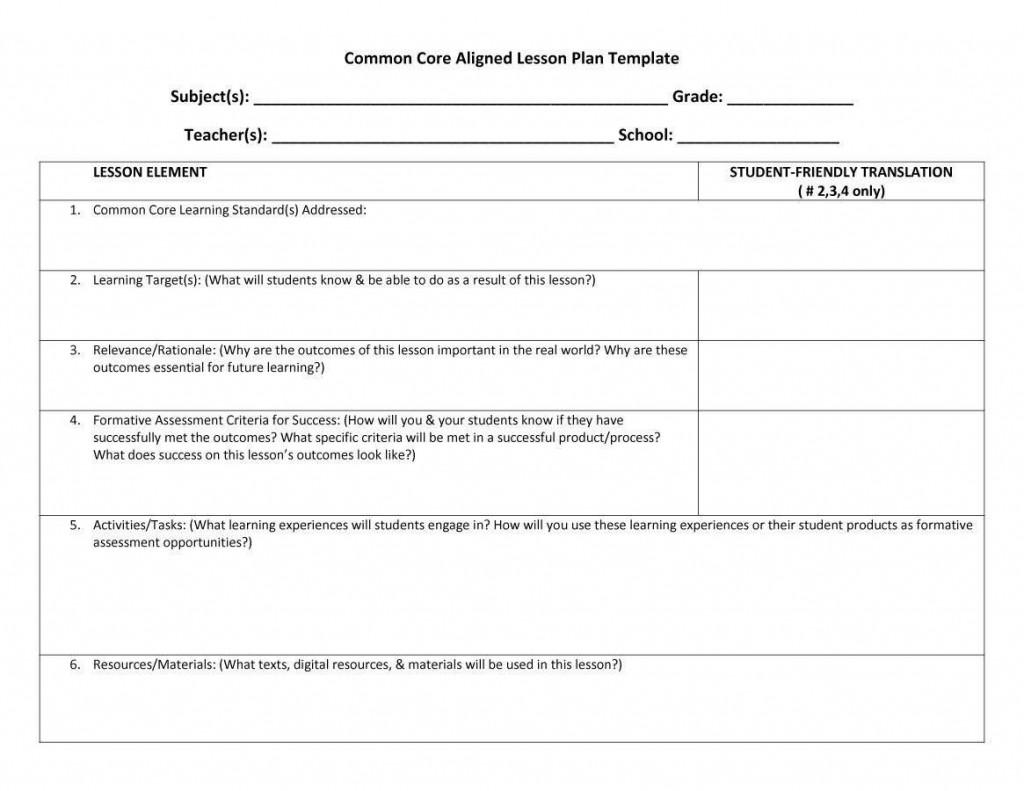 006 Wonderful Lesson Plan Format Word Doc Sample  Outline TemplateLarge