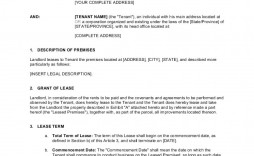 006 Wonderful Office Lease Agreement Template Design  Free Property Word
