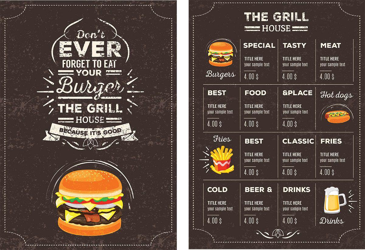 006 Wonderful Restaurant Menu Template Free Download Psd High Resolution  DesignFull