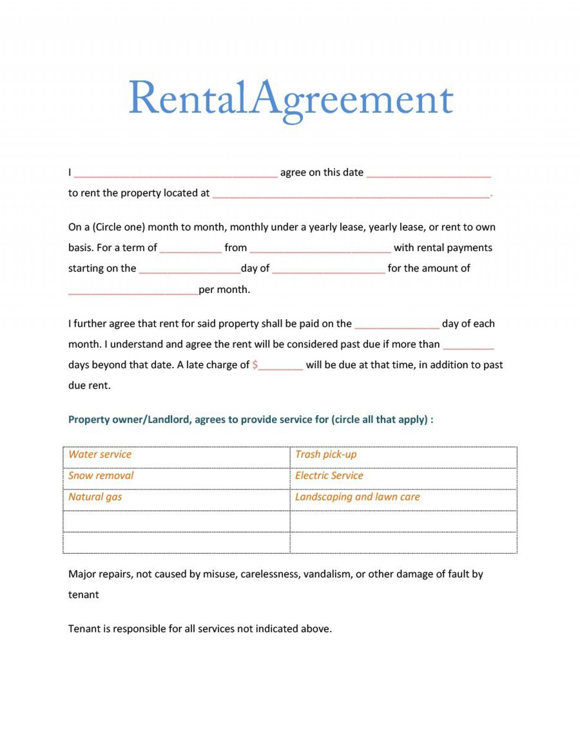 006 Wonderful Room Rental Agreement Simple Form Picture  Template Word Doc Rent Format In Free Uk1920