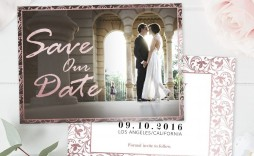 006 Wonderful Save The Date Template Photoshop Highest Clarity  Adobe Card