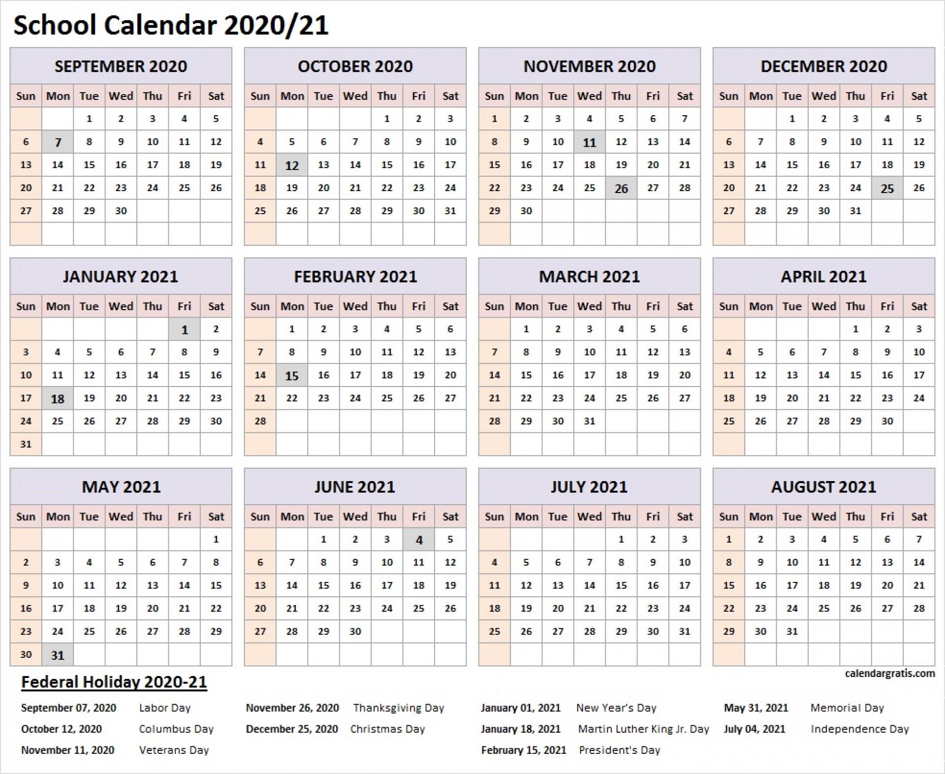 006 Wonderful School Year Calendar Template Highest Clarity  Excel 2019-20 Word1920