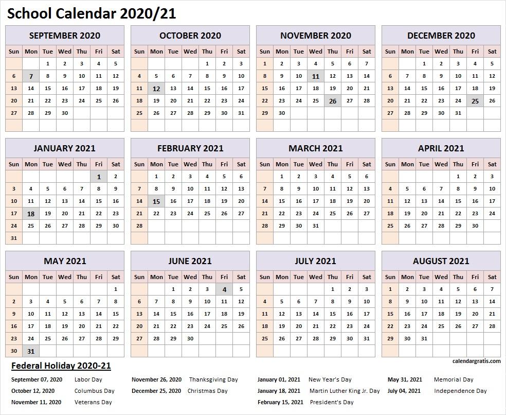 006 Wonderful School Year Calendar Template Highest Clarity  Excel 2019-20 WordFull