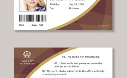 006 Wonderful Student Id Card Template Design  Identity Psd Free Download Word