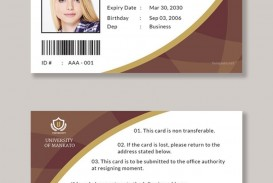 006 Wonderful Student Id Card Template Design  Free Psd Download Word School