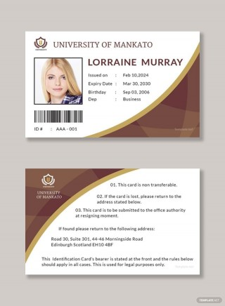 006 Wonderful Student Id Card Template Design  Psd Free School Microsoft Word Download320