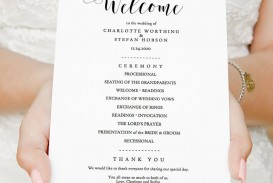 006 Wonderful Wedding Order Of Service Template Free Highest Clarity  Front Cover Download Church
