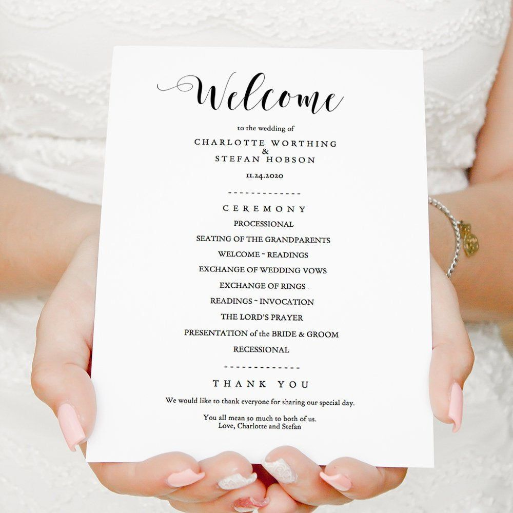 006 Wonderful Wedding Order Of Service Template Free Highest Clarity  Front Cover Download ChurchFull