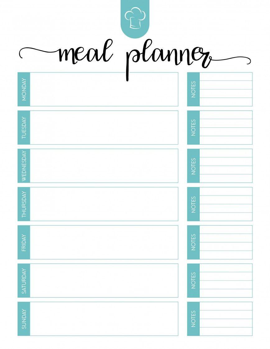 006 Wonderful Weekly Meal Plan Template App Example  Apple PageFull