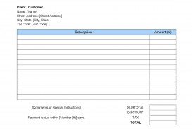 006 Wonderful Word Invoice Template Free Example  M Download