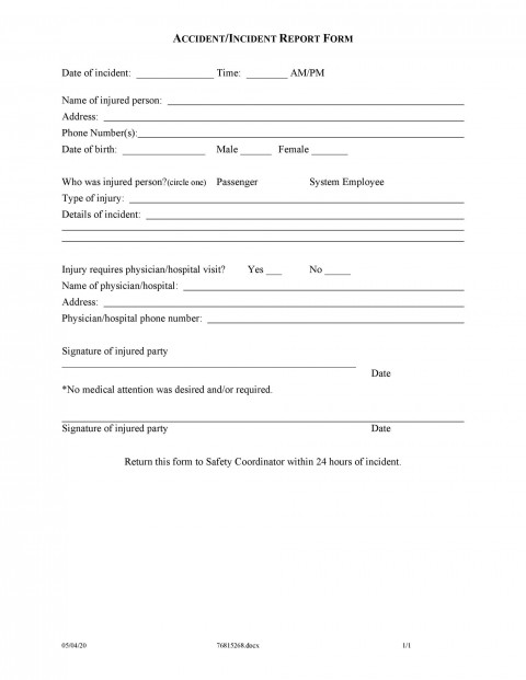 006 Wonderful Workplace Incident Report Form Template Nsw High Definition 480