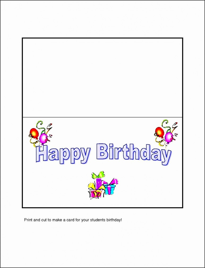 Birthday Card Template For Word Addictionary