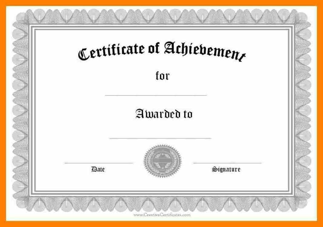 006 Wondrou Certificate Of Award Template Word Free High Def Full