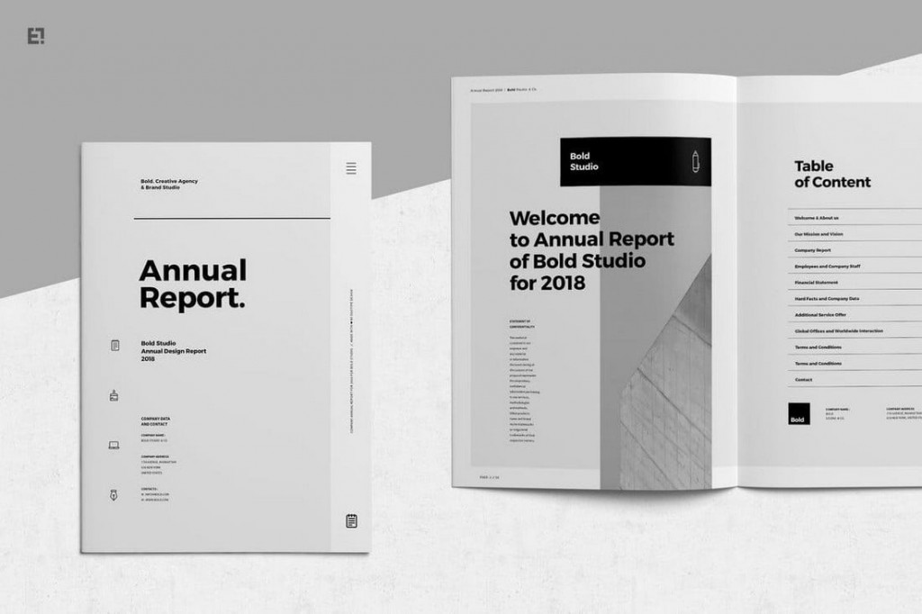 006 Wondrou Free Adobe Indesign Annual Report Template Highest Quality Large